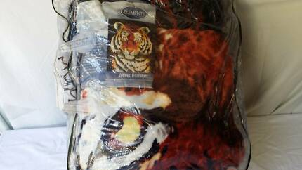 Elements Mink Blanket (Tiger) Airds Campbelltown Area Preview