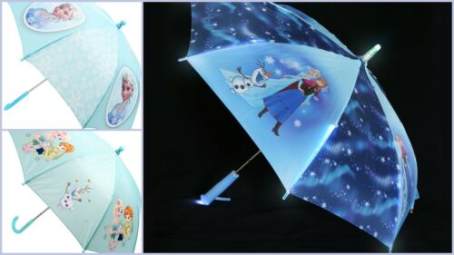 Umbrella Children Kids Elsa Anna Frozen Character Girl Illuminating Lighting Up