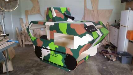 Tinker Playground Equipment Army Tank Cubby House