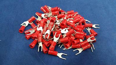 18-22 Gauge 100 Pk Vinyl Spade 8 Car Home Awg Connector Crimp Terminal