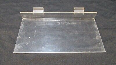 Acrylic Slatwall Flat Shoe Shelves Clear Display 6 X 11 34 Inch Lot Of 10