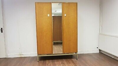 Vintage Mid Century G Plan Limba Wardrobe Armoire For E Gomme 1950s with mirror