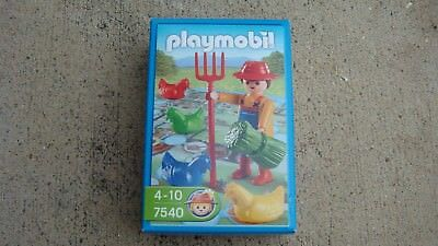 Playmobil 7540 farmer game brand new gift German toy geobra minidiorama 140