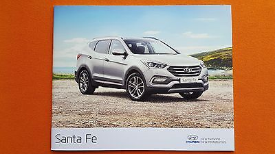 Hyundai Santa Fe Premium SE sales car brochure catalogue January 2017 MINT