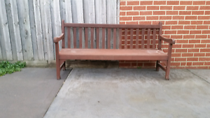 Large solid jarrah timber bench chair Bentleigh Glen Eira Area Preview