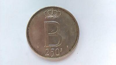 Pièce de 250 francs belge - 25 ans de règne du Roi Baudouin