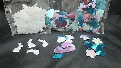 Easter Metallic Confetti - Eggs, Bunny Rabbit & Flower - - Easter Confetti