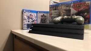 PS4 Pro 1TB- 5 Games/controller/HDMI/powercord