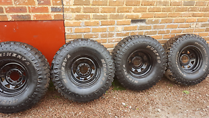 Mud tyres with rims Hallam Casey Area Preview