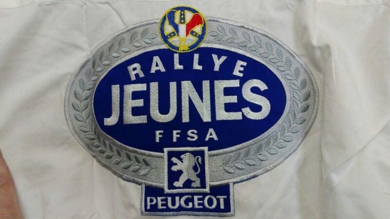 RALLYE JUENES FFSA PEUGEOT White Long Sleeve Shirt Medium NOS