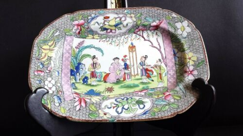 Rare Antique Early 19th Century Mason's Patent Ironstone Dish C1813-18.