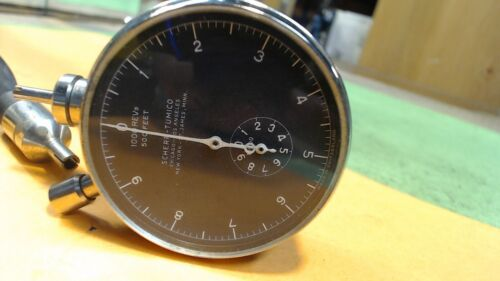 Vintage--Scherr Tumico-Chicago- Tachometer RPM Gauge - Machinist Tach W/ Box etc