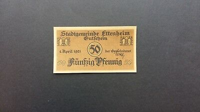 Rupertus 47.8 Notgeldschein Stadt Ettemheim 50 Pfg 1.4.1921