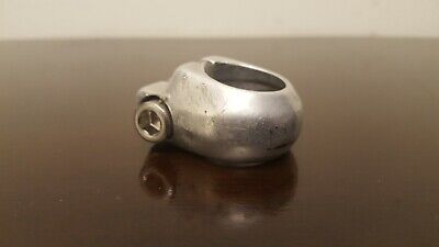 """OLD SCHOOL BMX ACS SEAT POST CLAMP SILVER NOS VINTAGE BICYCLE 1"""" KLUNKER"""