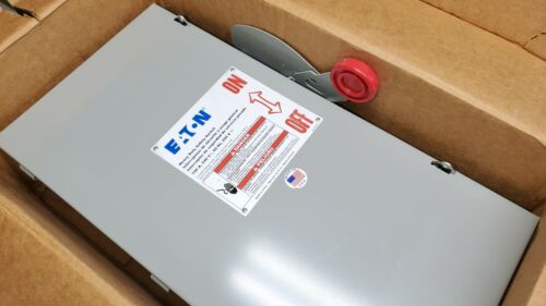 Eaton DH323NGK 100A Heavy Duty Safety Switch 120/240VAC 125/250VDC 3P Fusible