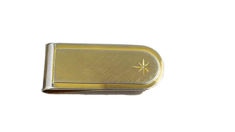 Vintage Starburst Diamond Chip Money Clip  G6