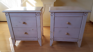 2 x BED SIDE TABLES Brighton-le-sands Rockdale Area Preview