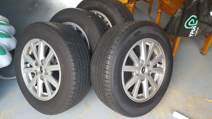 VF COMMODORE WHEELS AND GOODYEAR TYRES
