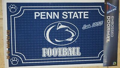 Penn State Football Embossed Door Mat - Nittany Lions TEAM SPORTS AMERICA - - Lions Football Mat
