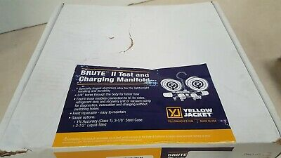 Yellow Jacket 46013 Brute Ii 4-vlv Manifold 60 Plus Ii Hoses - R-22404a410a