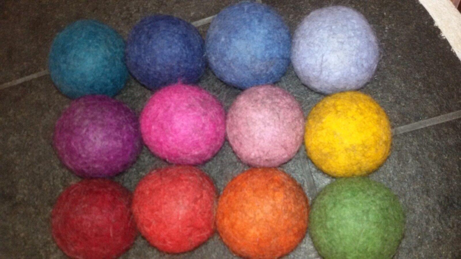 Hundespielzeug Voll Filz Ball Tennisball-Größe, sehr robust Wolle