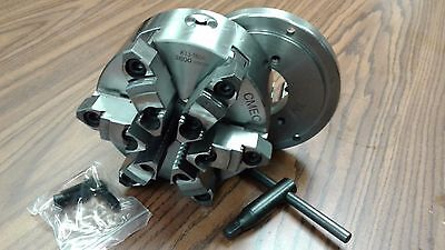 6 6-jaw Self-centering Lathe Chuck W. Topbottom Jaws W. D1-4 Adapter-new