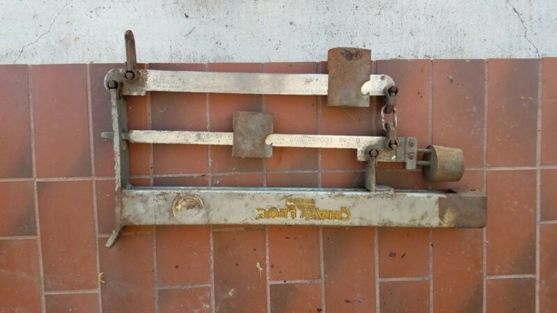 Antique Chatillon Industrial Wall Scale 600 Lb Schorer Store Fixture Company