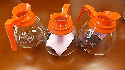 Coffee Pot Decanter Orange 64oz Commercial Case Of 3 Coffee Pots For Bunn Brewer