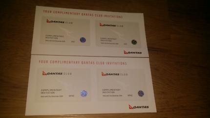 Qantas Club Passes x 4
