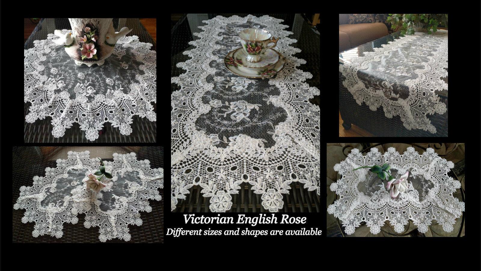 Купить Doily Large 25 inch Sheer Vintage English Rose Victorian