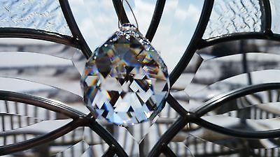 CRYSTAL SUNCATCHER BALL PRISM SPHERE W/TRIANGULAR FACETS, - Crystal Suncatchers