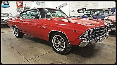 69 Red Malibu Chevelle SS Big Block 396 502 Auto Classic show car Black Power 68