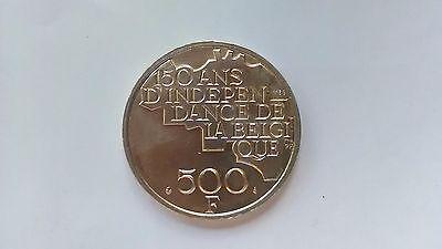 Pièce de 500 francs belge - 150 ans Belgique