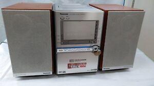 Panasonic SA-PM91D 5-DVD/CD Changer Mini Hi-Fi System Bluetooth MP3 Super Sound