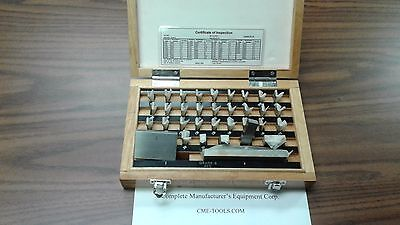36 Pcs Precision Gage Block Set W. Nist Equivalent Certificategrade B 702-36b