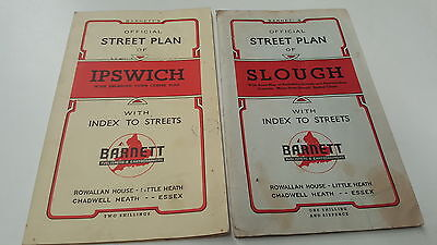 Old IPSWICH & SLOUGH England UK STREET MAPS