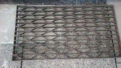 Vintage Ornate Metal shoe scraper outdoor door mat.