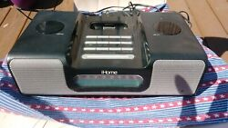 iHome iH8 Clock Radio and Stereo Speaker System w/ line-in Audio!