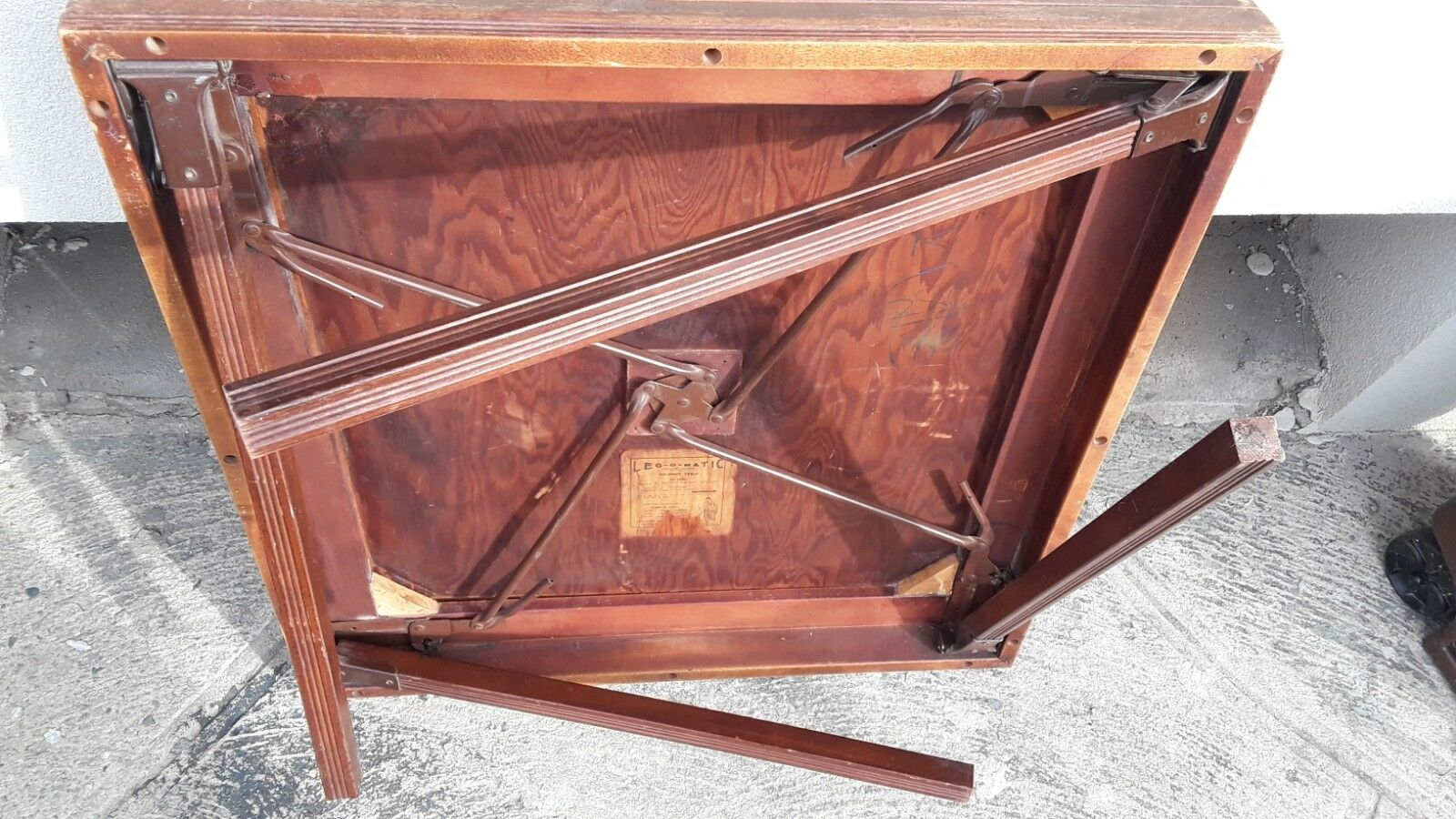 Astounding Details About Vintage Leg O Matic Lorraine Table 4 Folding Chairs For Airstream Tiny House Inzonedesignstudio Interior Chair Design Inzonedesignstudiocom