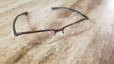 Nike TITANIUM Eyeglasses 6071 210 Satin Walnut Cargo Khaki Frames Size (Cargo Eyeglass Frames)