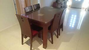 Glass top dining set for quick sale Nundah Brisbane North East Preview