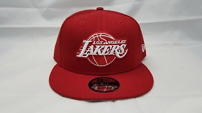 c7fbfaa42e2 NEW ERA 9FIFTY ADJUSTABLE SNAPBACK HAT. NBA. LOS ANGELES LAKERS. RED.