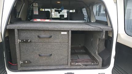 Gu Patrol Rear Drawers and Cargo Barrier