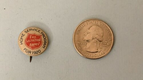 Old The Salvation Army  Home Service Program For 1920  Pinback Button Pin