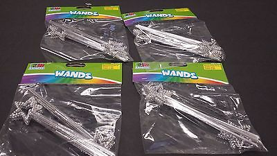 Princess Party Favors 24 Mini Silver Star Wands 6 3/4