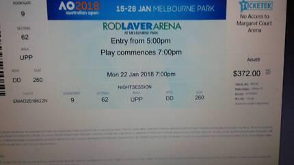 Australia Open 4th round twilight ticket