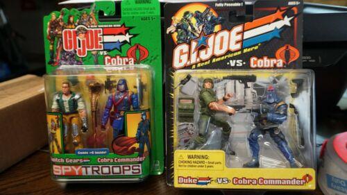 G.I. Joe Spy Troops Switch Gears Vs Cobra Commander & Duke Vs C. Commander NIB