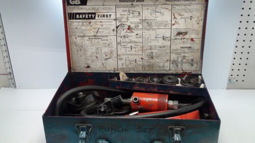 """GB  KD5000 1/2"""" TO 4""""  HYDRAULIC KNOCKOUT PUNCH DRIVER SET"""
