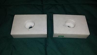 Lot of 2 White Italian Marble Lamp/Trophy Part for bases 2
