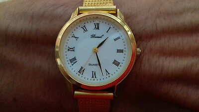 Bassel D-6028 GOLD PLATED VINTAGE COLLECTION NOS WATCH UHR MONTRE OROLOGIO 80´s
